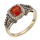 Le Vian 14ct strawberry gold diamond & fire opal ring - Product number 9757635