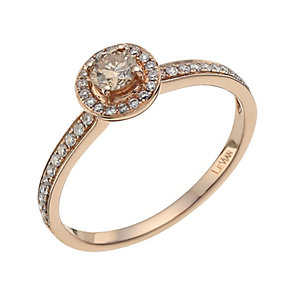 Le Vian 14ct Strawberry Gold white & Chocolate Diamond ring - Product number 9757899