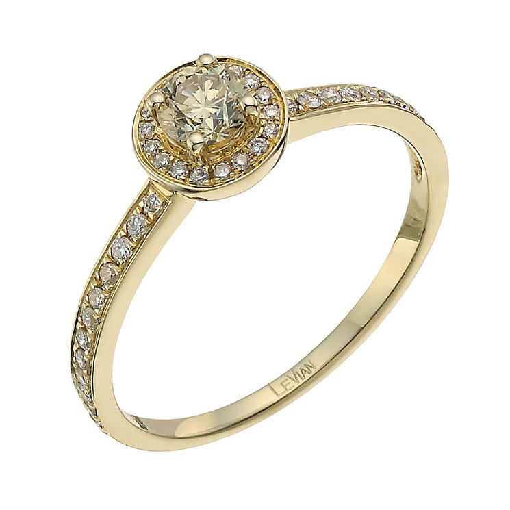 Le Vian 14ct Gold 0 40 Ct Diamond Amp Chocolate Diamond Ring