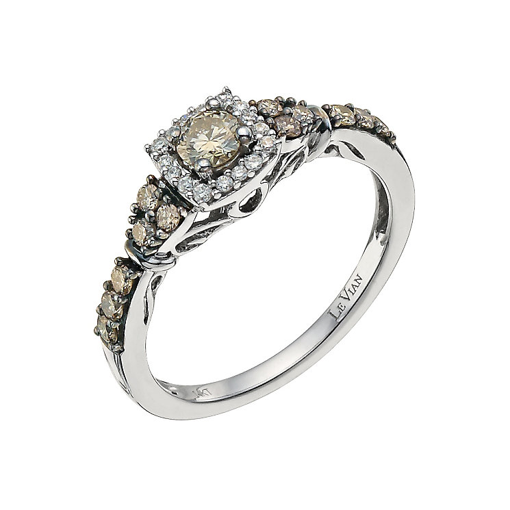 Le Vian 14ct Vanilla Gold diamond & Chocolate Diamond ring - Product number 9758283