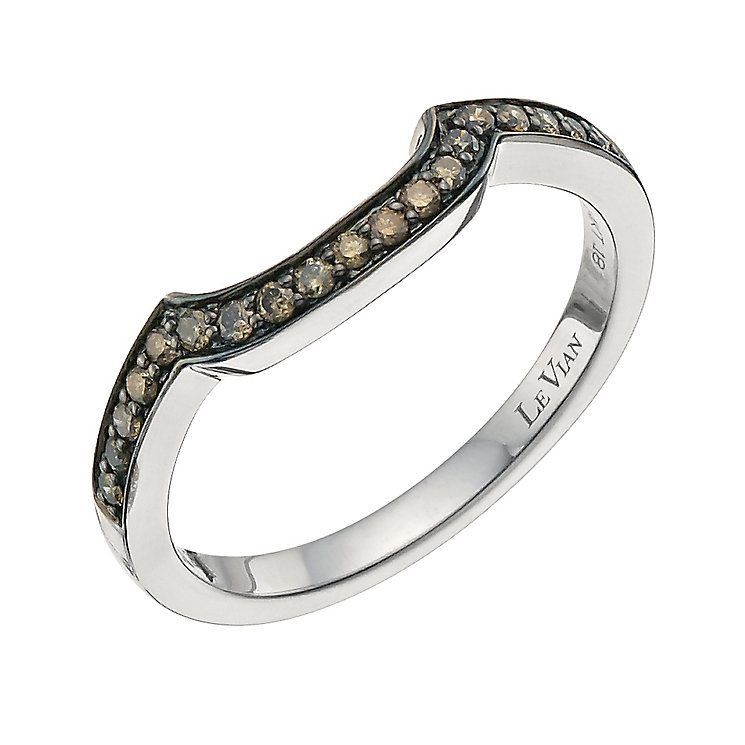 Le Vian 14ct Vanilla Gold Chocolate Diamond band - Product number 9758429