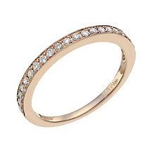 Le Vian 14ct Strawberry Gold diamond band - Product number 9758852