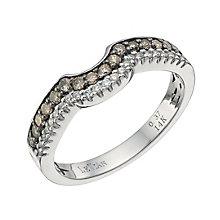 Le Vian 14ct Vanilla Gold diamond & Chocolate Diamond band - Product number 9758984