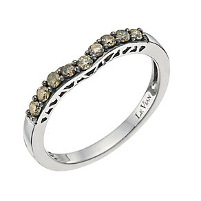 Le Vian 14ct Vanilla Gold Chocolate Diamond shaped ring - Product number 9759654