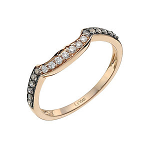 Le Vian 14ct Strawberry Gold diamond shaped ring - Product number 9759905