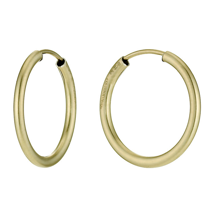 Together Bonded Silver & 9ct Gold Hoop Earrings 20mm - Product number 9760237