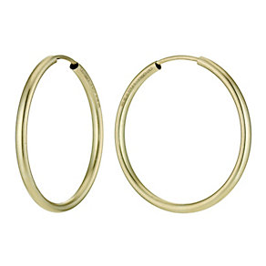 Together Bonded Silver & 9ct Gold Hoop Earrings 25mm - Product number 9760245