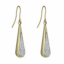 Together Bonded Silver & 9ct Gold Crystal Drop Earrings - Product number 9760563