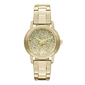 DKNY Ladies' Champagne Dial Gold Ion Plated Bracelet Watch - Product number 9763651