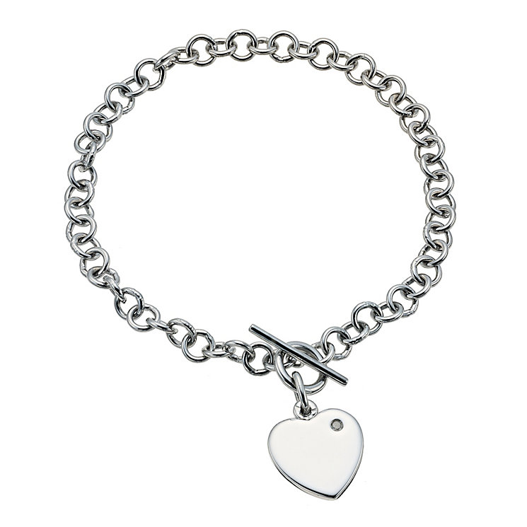 Hot Diamonds lovelock t-bar heart bracelet - Product number 9763678