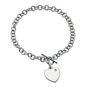 Hot Diamonds lovelock t-bar heart bracelet - Product number 9763678