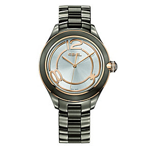Ebel Onde ladies' grey ion plated bracelet watch - Product number 9765867