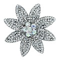 Large Crystal Flower Brooch - Product number 9767681