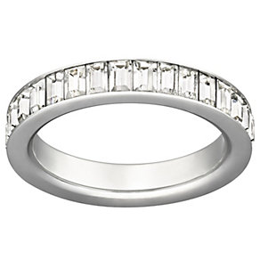 Swarovski Shades stainless steel crystal ring size Q - Product number 9768408