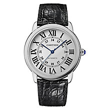 Cartier Ronde Solo men's stainless steel black strap watch - Product number 9768513