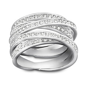 Swarovski crystal spiral ring size M - Product number 9768610