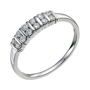 9ct white gold 0.25ct diamonds eternity ring - Product number 9769986