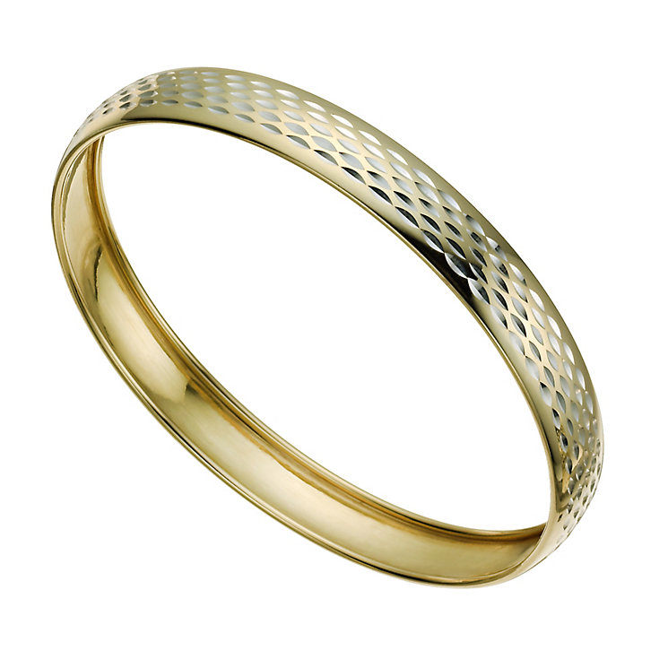 Together Bonded Silver & 9ct Gold Bangle - Product number 9771026