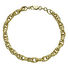 Together Bonded Silver & 9ct Gold Fancy Oval Link Bracelet - Product number 9771042
