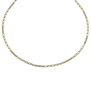 Together Bonded Silver & 9ct Gold Fiagro Chain 17.75 - Product number 9771255