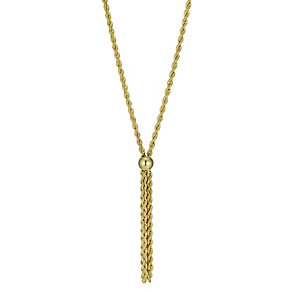Together Bonded Silver & 9ct Gold Multi Strand Rope Necklace - Product number 9771379