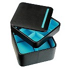 Black & turquoise watch & cufflink accessory box - Product number 9774718
