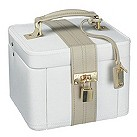 Medium cream leather jewellery box - Product number 9774807