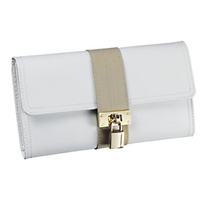 Cream leather jewellery roll - Product number 9774815