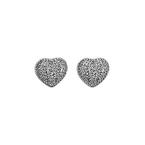 Pilgrim Silver-Plated Heart Stud Earrings - Product number 9778608
