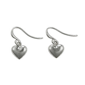 Pilgrim Silver-Plated Plain Heart Drop Earrings - Product number 9778616