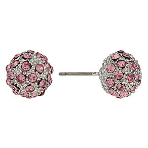 Pink Crystal Ball Stud Earrings - Product number 9779167
