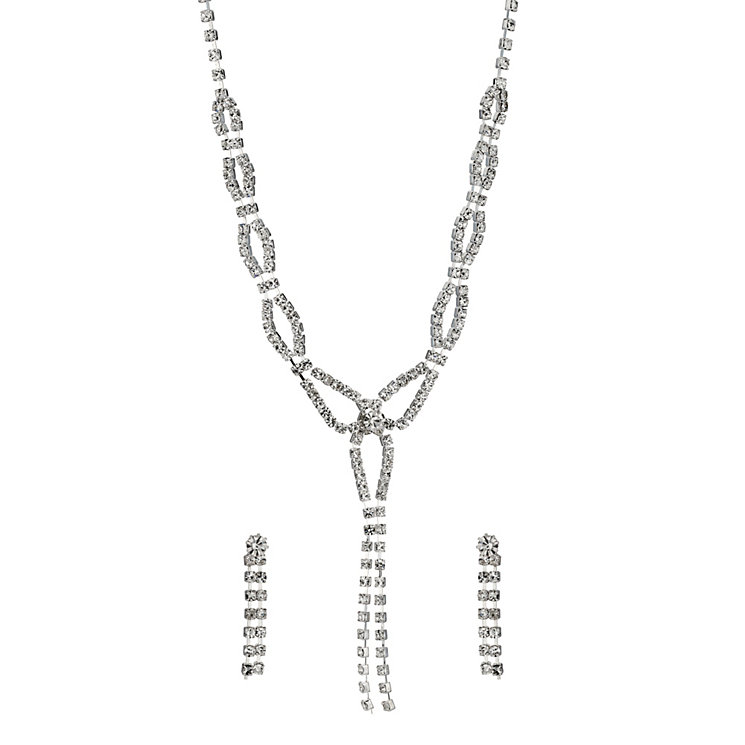 Crystal Y Necklace and Earring Set - Product number 9779175