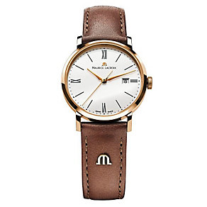 Maurice Lacroix Eliros rose gold-plated black strap watch - Product number 9782109