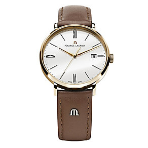 Maurice Lacroix Eliros men's brown leather strap watch - Product number 9782419