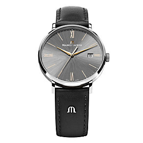 Maurice Lacroix Eliros black leather strap watch - Product number 9782435