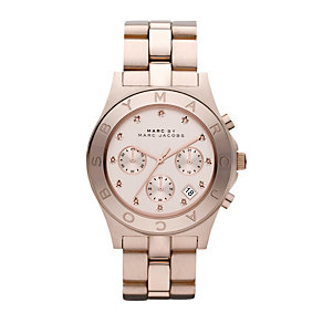 Marc Jacobs Blade ladies' rose gold-plated bracelet watch - Product number 9787917