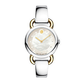 Movado Linio ladies' two colour mother of pearl watch - Product number 9798110