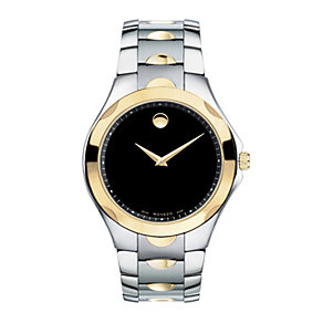 Movado Luno Sport men's two colour bracelet watch - Product number 9798242