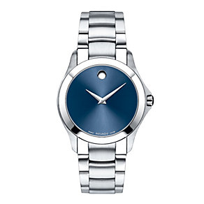 Movado Master men's blue dial stainless steel bracelet watch - Product number 9798277