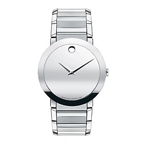 Movado Sapphire men's stainless steel bracelet watch - Product number 9798331