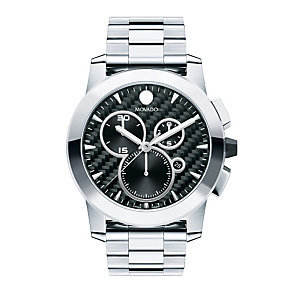 Movado Vizio men's stainless steel chrome bracelet watch - Product number 9798404