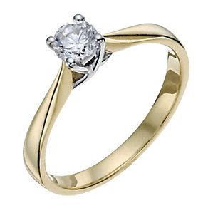 18ct Yellow Gold 1/3 Carat Diamond Solitaire - Product number 9799664