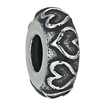 Charmed Memories Sterling Silver Heart Spacer Bead - Product number 9802126