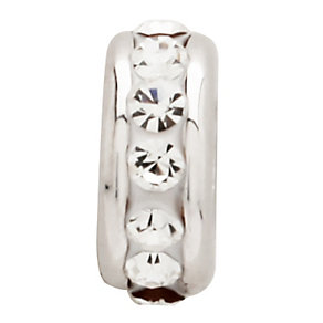 Charmed Memories Sterling Silver Crystal Spacer Bead - Product number 9802347