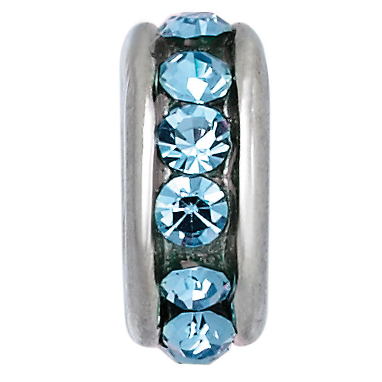 Charmed Memories Sterling Silver Light Blue Spacer Bead - Product number 9802355