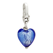 Charmed Memories Blue Murano Glass Heart Bead - Product number 9802452