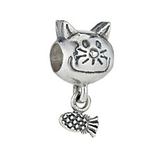 Charmed Memories Sterling Silver Cat Bead - Product number 9802487