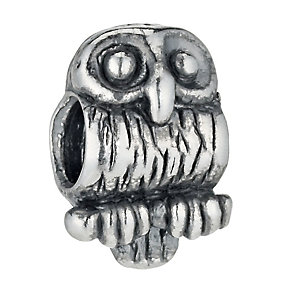 Charmed Memories Sterling Silver Owl Bead - Product number 9802509