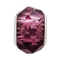Charmed Memories Sterling Silver Purple Faceted Crystal Bead - Product number 9802584