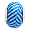 Charmed Memories Blue Zigzag Murano Glass Bead - Product number 9802711
